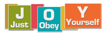 JOY - Just Obey Yourself Various Color Boxes 版權商用圖片