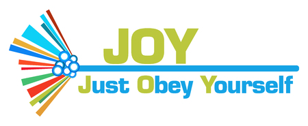 JOY - Just Obey Yourself Colorful Graphical Bar 版權商用圖片
