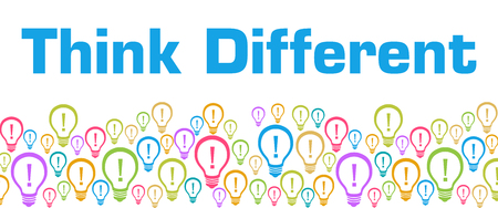 Think Different Colorful Bulbs With Text
