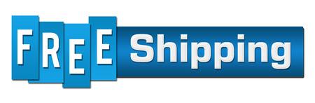 Free Shipping Blue Stripes Bar Horizontal Foto de archivo - 103668041