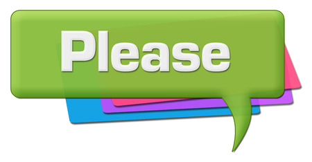 Please Green Colorful Comment Symbol