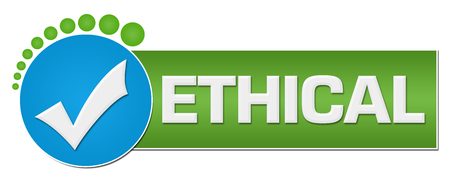 Ethical  Green Blue Circular Dots Stock Photo