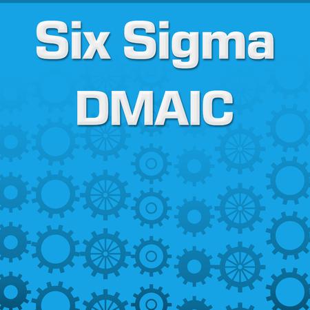 Six Sigma DMAIC Blue Gears Background