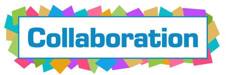 Collaboration Colorful Random Shapes Horizontal