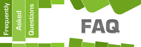 FAQ - Frequently Asked Questions Green Stripes Text