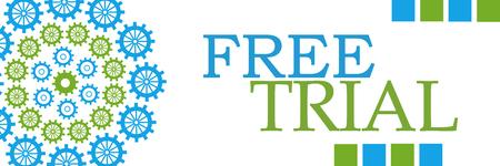 Free Trial Green Blue Circular Gears Horizontal