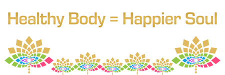Healthy Body Happier Soul Colorful Floral Horizontal Stock Photo