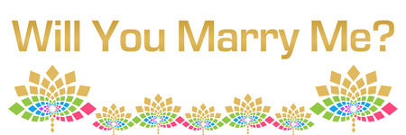 Will You Marry Me Colorful Floral Horizontal