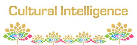 Cultural Intelligence Colorful Floral Horizontal Zdjęcie Seryjne
