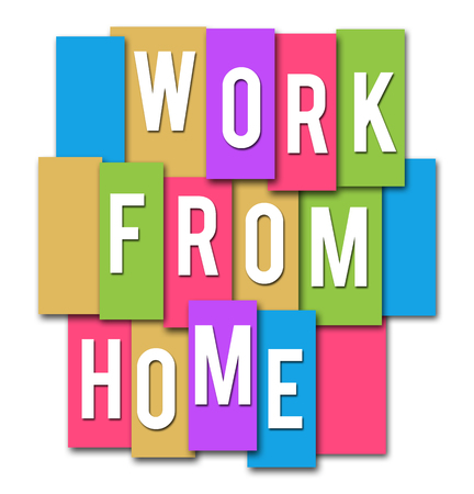 Work From Home Colorful Stripes Group
