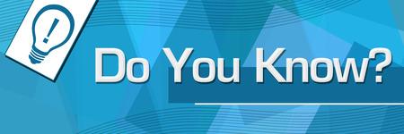 Do You Know Random Shapes Blue Background Stock fotó