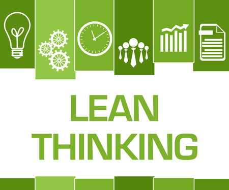 Lean Thinking Green Stripes Symbols