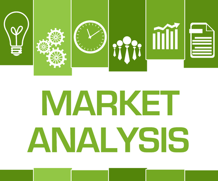 Market Analysis Green Stripes Symbols