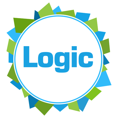 Logic Green Blue Random Shapes Circle Stock Photo