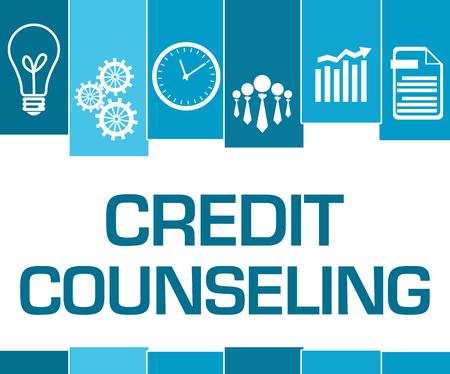 Credit Counseling Blue Stripes Symbols 免版税图像