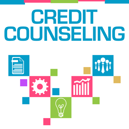 Credit Counseling Colorful Squares Symbols