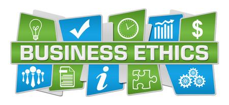 Business Ethics Blue Green Up Down Symbols Archivio Fotografico