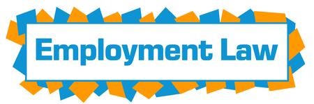 Employment Law Blue Orange Random Shapes Horizontal