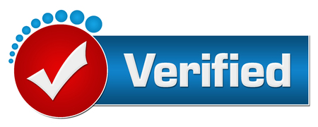 Verified Red Blue Circular Dots Archivio Fotografico