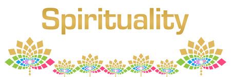 Spirituality Colorful Floral Horizontal Stock Photo