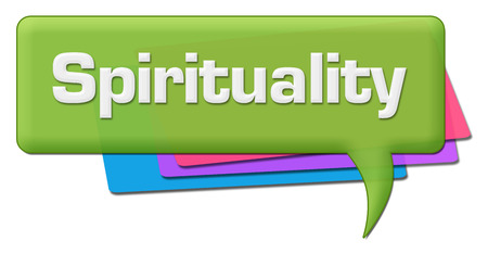 Spirituality Green Colorful Comment Symbol