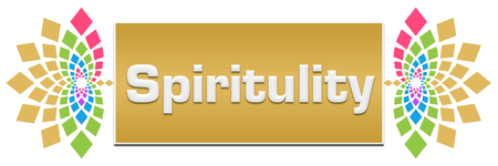 Spirituality Floral Left Right Banner Stock Photo