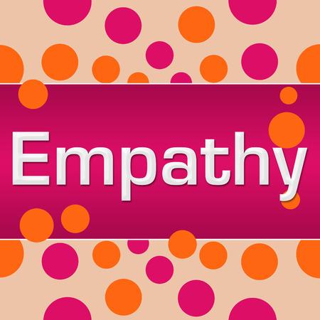 Empathy Pink Orange Dots Square