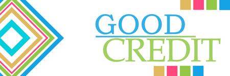 Good Credit Colorful Borders Squares Horizontal