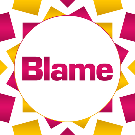 Blame Pink Gold Circular Background