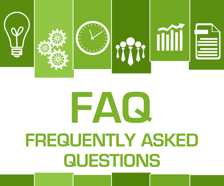 FAQ - Frequently Asked Questions Green Stripes Symbols 写真素材
