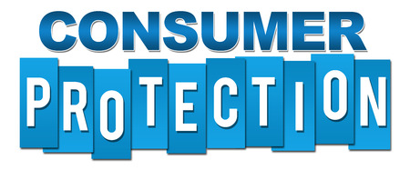 Consumer Protection Professional Blue Banque d'images