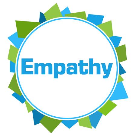 Empathy Green Blue Random Shapes Circle
