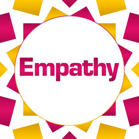Empathy Pink Gold Circular Background Stock Photo