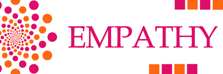 Empathy Pink Orange Dots Horizontal Stock Photo