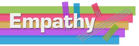 Empathy Abstract Colorful Stripes Horizontal Stock Photo