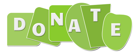 Donate Green Abstract Shapes Horizontal