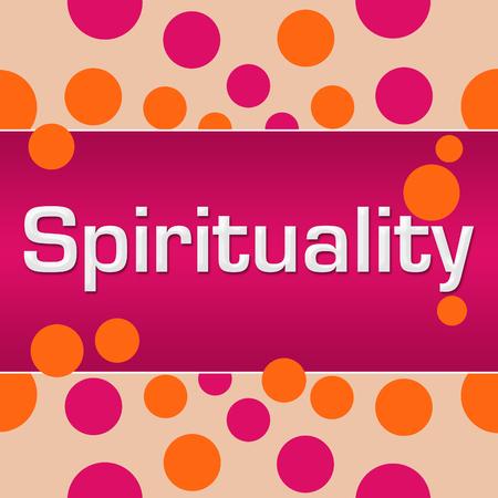 Spirituality Pink Orange Dots Square Stock Photo