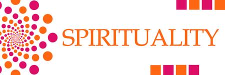 Spirituality Pink Orange Dots Horizontal