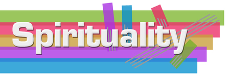 Spirituality Abstract Colorful Stripes Horizontal