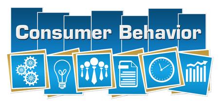 Consume Behavior Business Symbols Blue Squares Stripes Standard-Bild