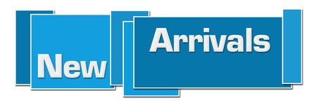 New Arrivals Blue Colorful Boxes Archivio Fotografico - 109460905