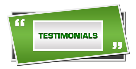Testimonials Green Grey Squares Symbol