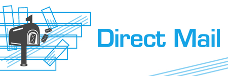 Direct Mail Blue Strokes Symbol Horizontal