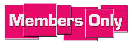 Members Only Pink Texture Blocks