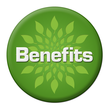 Benefits Green Leaves Circle Badge Style