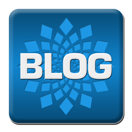 Blog Blue Rounded Square With Element