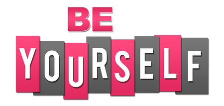 Be Yourself Professional Pink Grey Reklamní fotografie