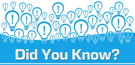 Did You Know Blue Background Bulbs On Top
