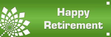 Happy Retirement Green Floral Left