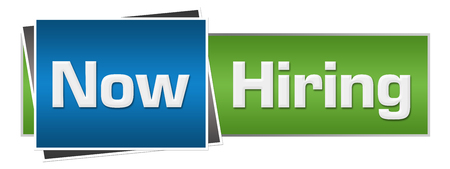 Now Hiring Green Blue Horizontal